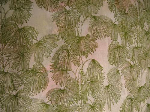 grönt mönstrat tyg